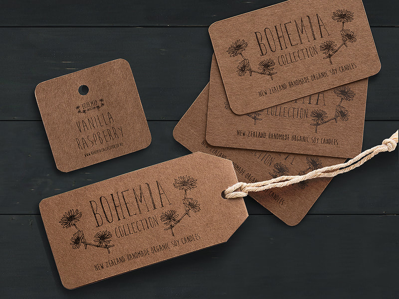 Bohemia Collection Logo, Business Cards & Tags from Anna By Design