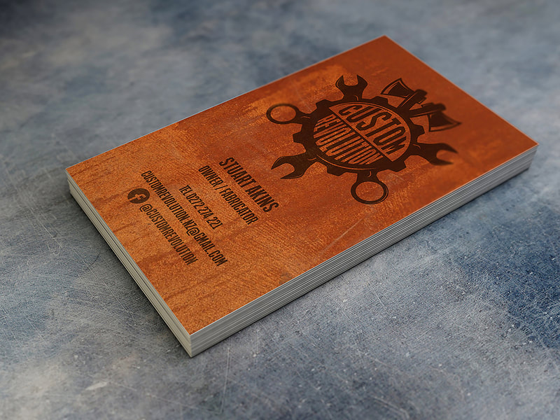 Custom Revolution Logo and Business Cards from Anna By Design