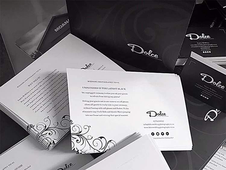 Dolce Wedding Photography Collateral from Anna By Design