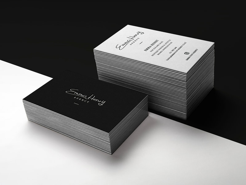 Emma Henry Agency Logo and Business Cards from Anna By Design