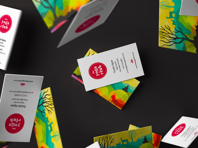 The Yoga Club Business Cards from Anna By Design